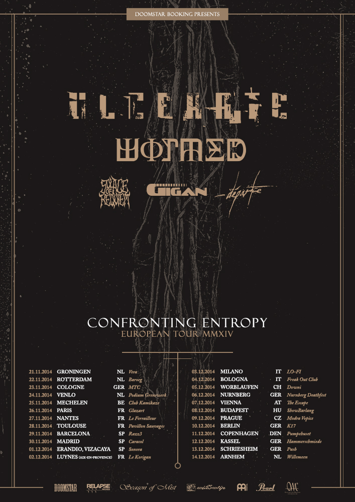 Ulcerate, Wormed, Solace Of Requiem, Gigan Europe Tour 2014
